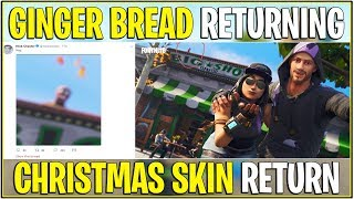 Fortnite: GINGER BREAD SKIN RETURNING SOON! (Epic Teases Retour)