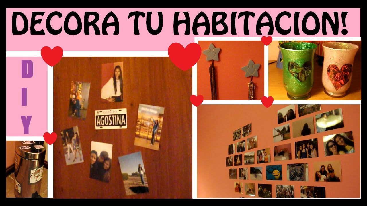 Diy decora tu habitacion con ideas faciles youtube for Como se decora una habitacion