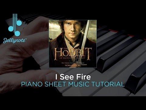 I See Fire - Ed Sheeran - Piano Sheet Music Tutorial (Jellynote Lesson)