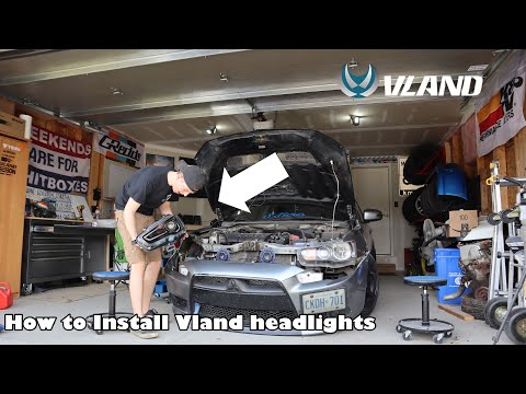 How To Install Vland Sequential Headlights On Mitsubishi Lancer!!