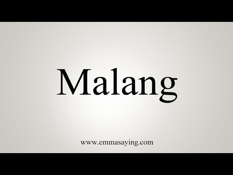 How To Say Malang Youtube