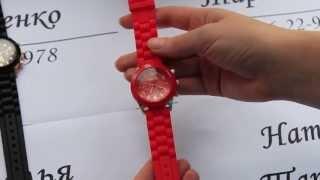 видеообзор на часы силиконовым ремешком