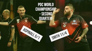 PDC World Championships | Aspinall 5/1 to reach semi-finals in tough second quarter!