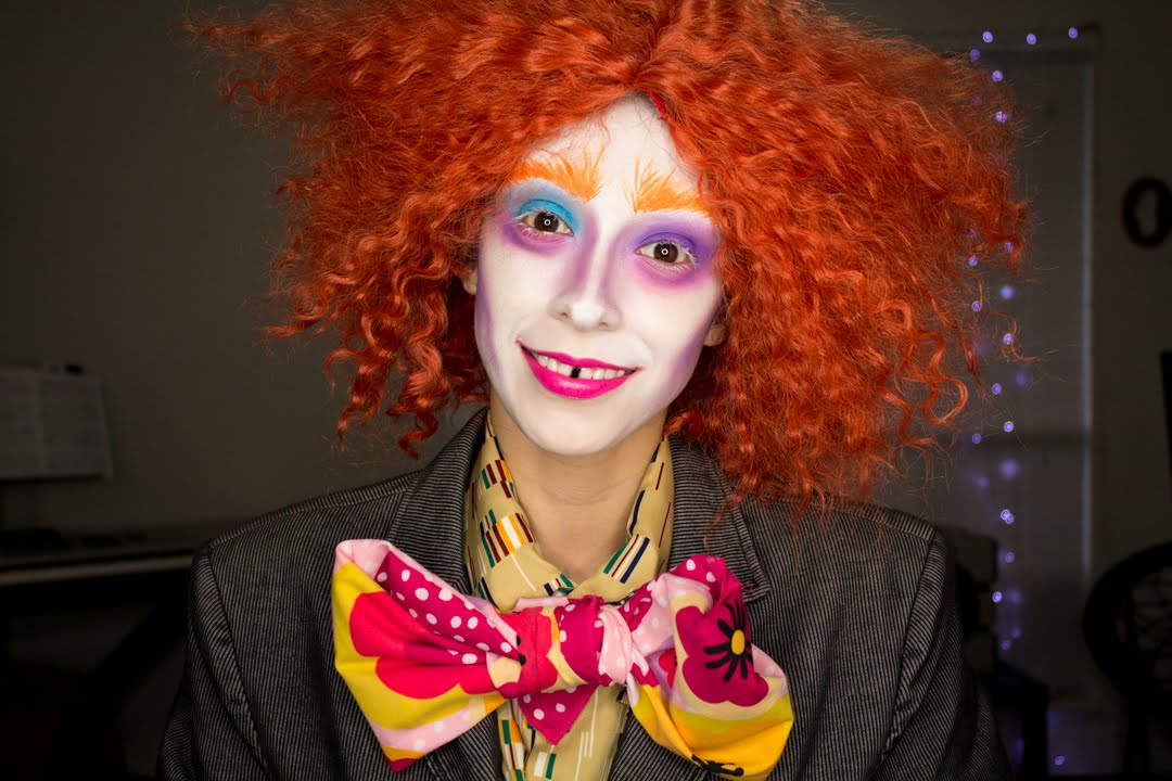 Johnny Depp Mad Hatter Halloween Makeup Tutorial - YouTube