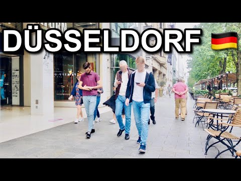 [4K] Back to Normal Life in Germany? - Dusseldorf City Tour
