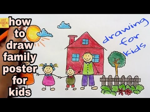 how to draw family tree international family day drawing