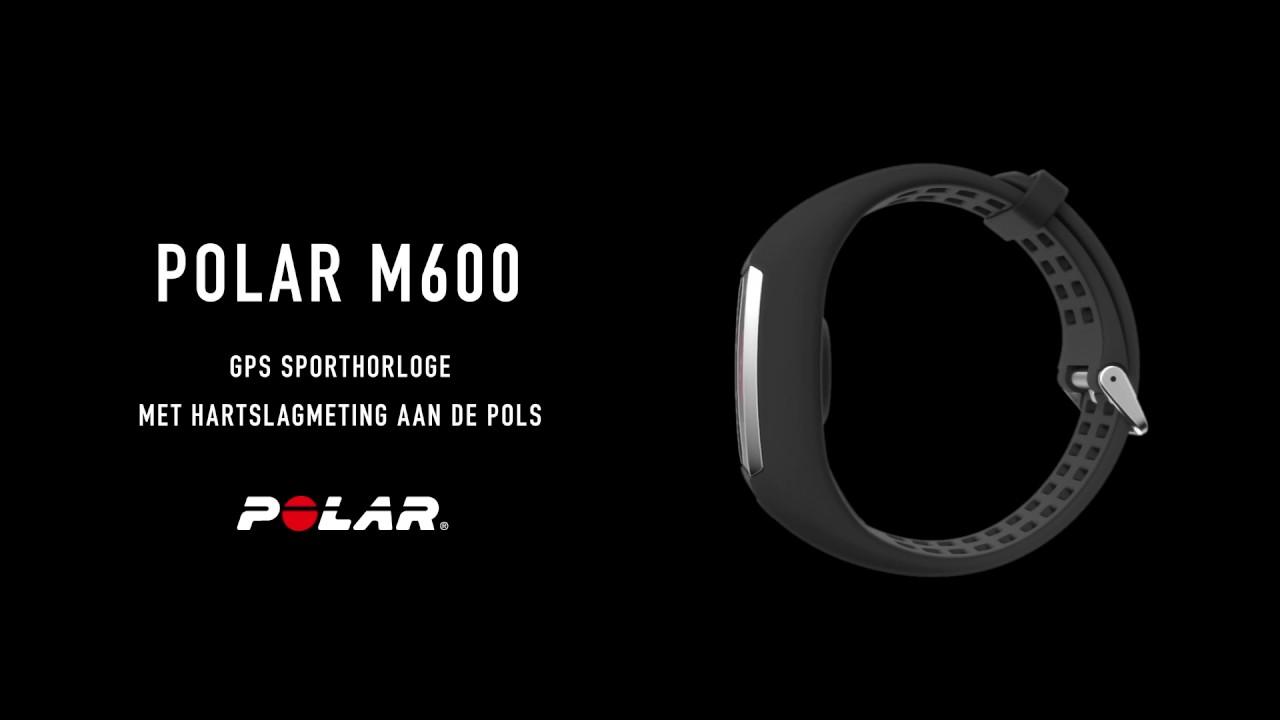 28af21e0061 Polar M600 GPS Sporthorloge met hartslagmeting aan de pols - YouTube
