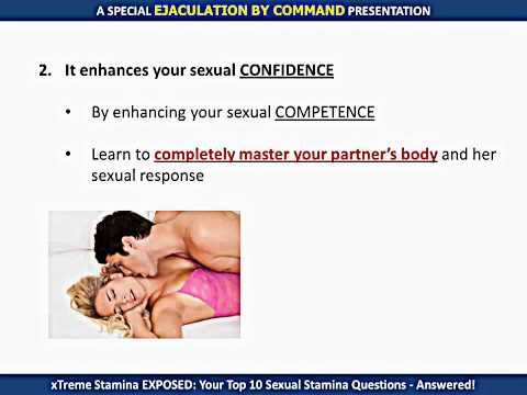 Premature ejaculation control