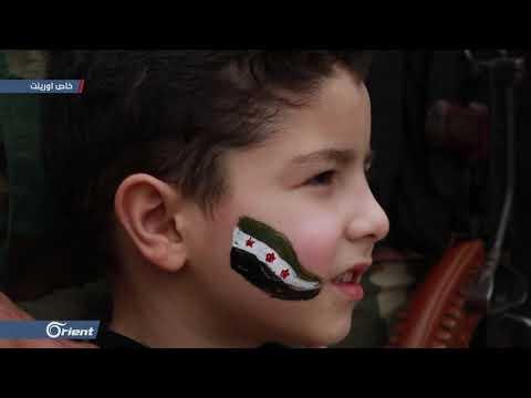أهالي الباسوطة شمال حلب يتظاهرون في ذكرى الثورة السورية - سوريا  - 01:54-2019 / 3 / 16