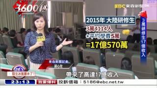 短期陸生縮1-2成 高教收入恐少億元【3600秒】