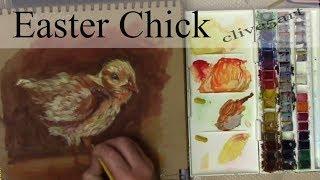 Easter Chick Beginners  watercolour & Gouache