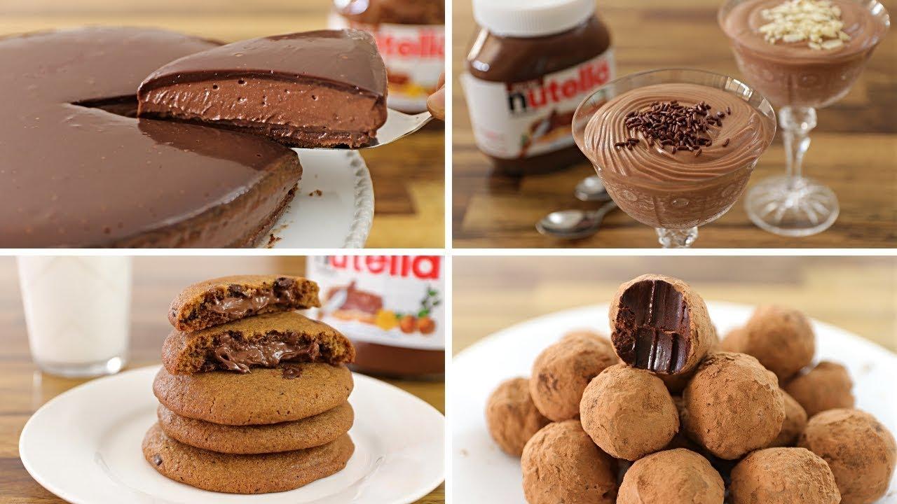 4 Easy Nutella Dessert Recipes Youtube