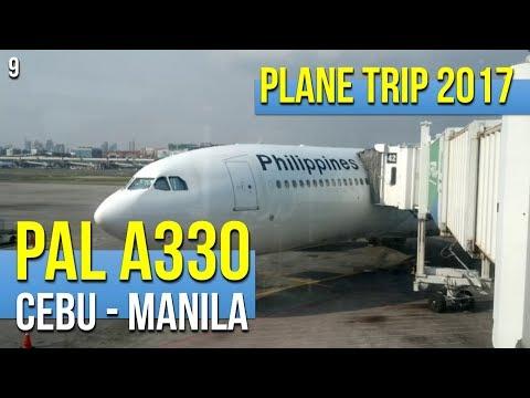 Philippine Airlines A330 PR1854 Cebu to Manila (042017)