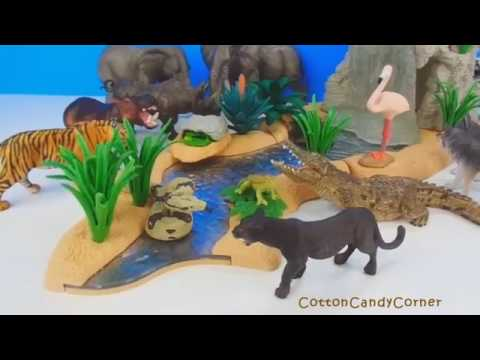 Schleich Farm Animal Toys Sounds Names Children's Educational Toy Collection Compilation