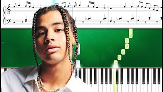 24kGoldn - Company ft. Future (Piano Tutorial Sheets)