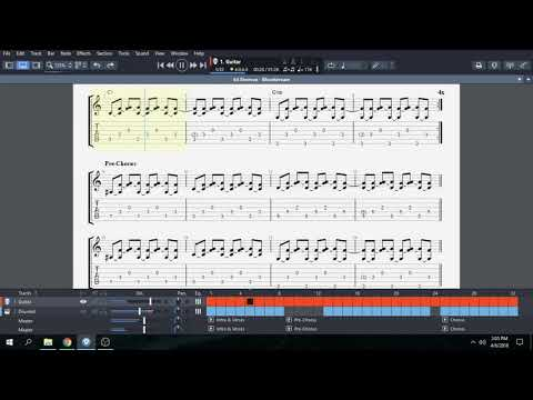 Bloodstream by Ed Sheeran Guitar Tablature, Chords, and Music Notation