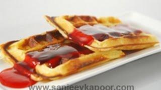 Lemon Waffles With Raspberry Sauce