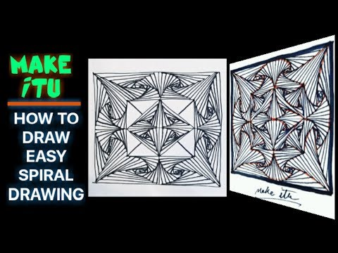 HOW TO DRAW EASY SPIRAL DRAWING
