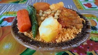 Couscous Tunisien au Merou - Recette Tunisienne