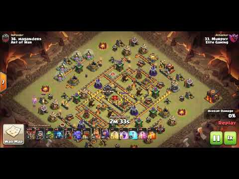 Lalo 10v10 vs Art of War,  CWL Placement war. Clash of clans attack
