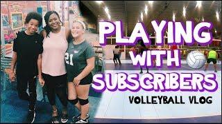 KoKo Plays With KOKO VOLLEY Subscribers! ⎮Volleyball Vlog