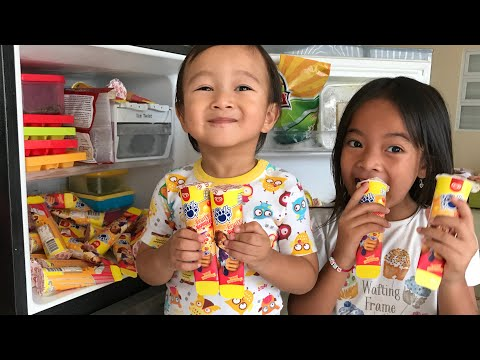 Pesta Anak Paddle Pop Fruity Bubbles di Rumah | Es Krim rasa Buah Asem Segar | Kulkas Impian Anak