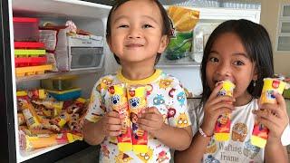 Pesta Anak Paddle Pop Fruity Bubbles di Rumah   Es Krim rasa Buah Asem Segar   Kulkas Impian Anak