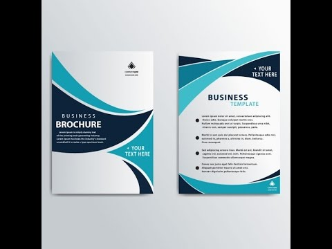 Brochure Design With Coreldraw  Tutorial In Urdu Part   Youtube