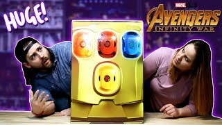 UNBOXING A GIANT MYSTERY INFINITY GAUNTLET!!!