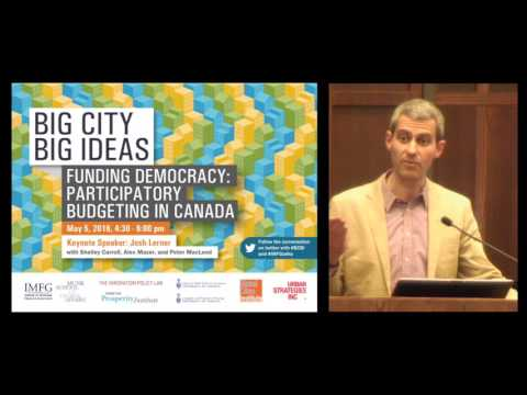 BIG CITY, BIG IDEAS | Funding Democracy: Participatory Budgeting in Canada