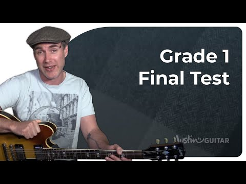 Grade 1 Test • Practical Music Theory • Grade 1 • JustinGuitar • MT-199