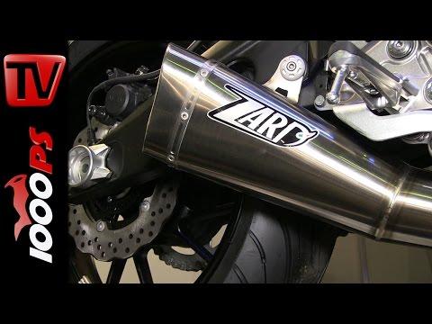 Zard Auspuff auf MT-07 Soundcheck | Motorräder Dortmund 2015