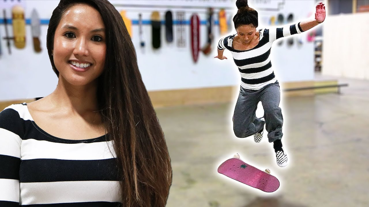 JADE LEARNS HER FIRST VARIAL FLIP! AMAZING!