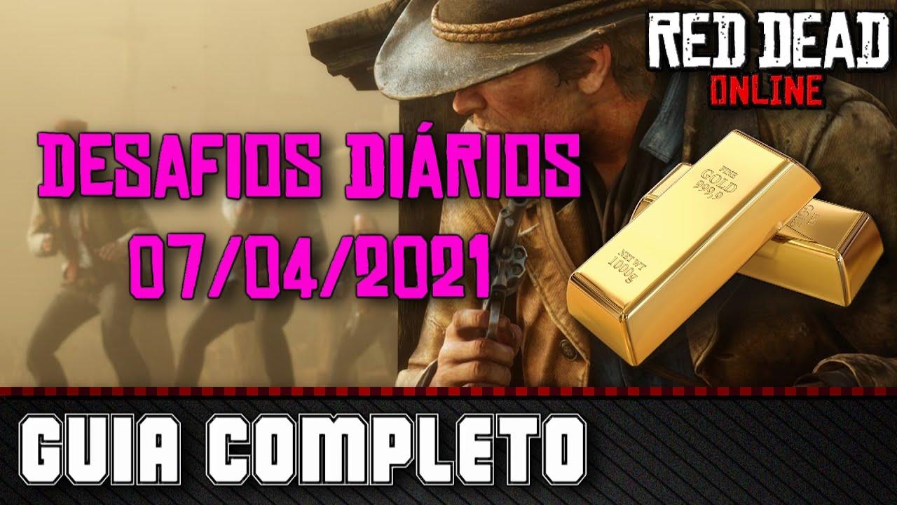 Desafios Diários - Red Dead Online 07/04/2021
