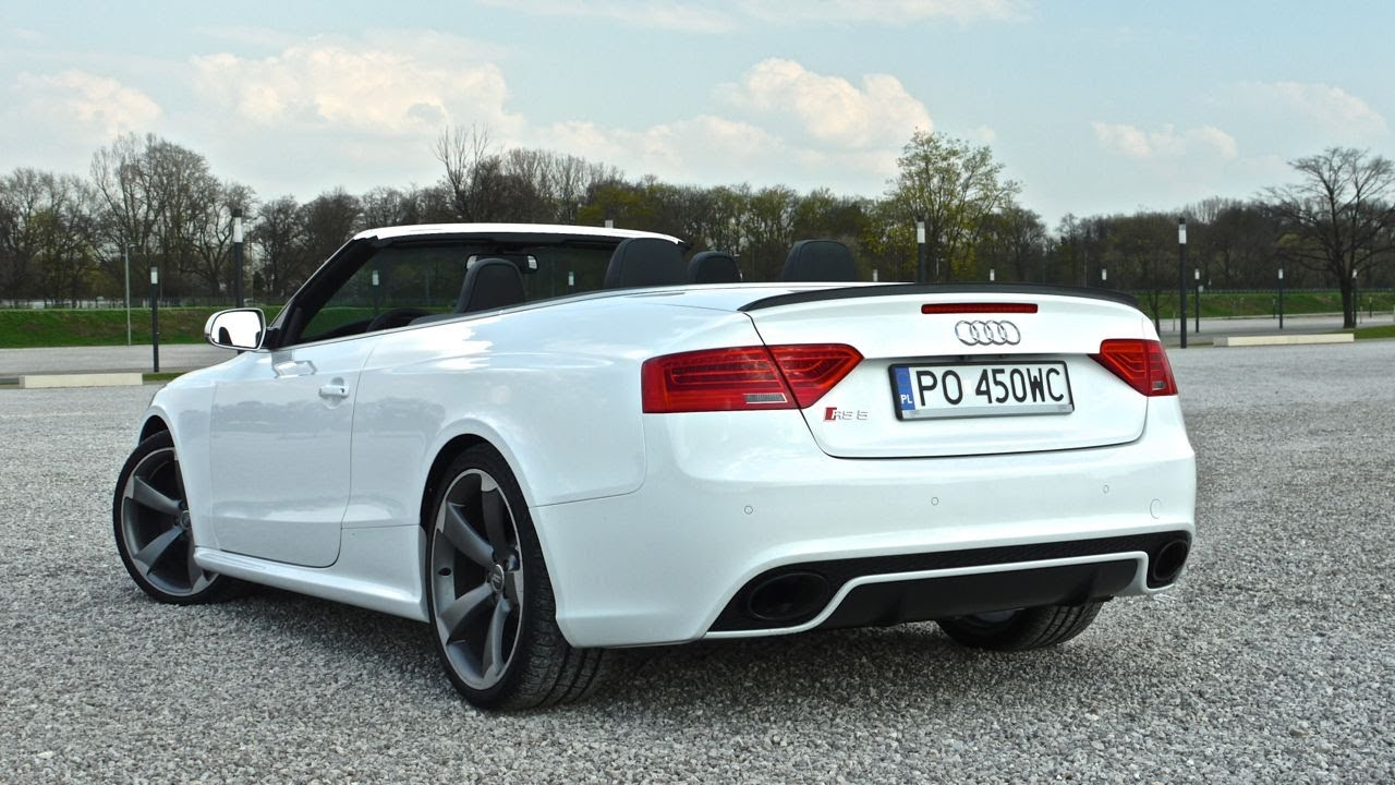 (ENG) Audi RS 5 Cabriolet - test drive and review - YouTube