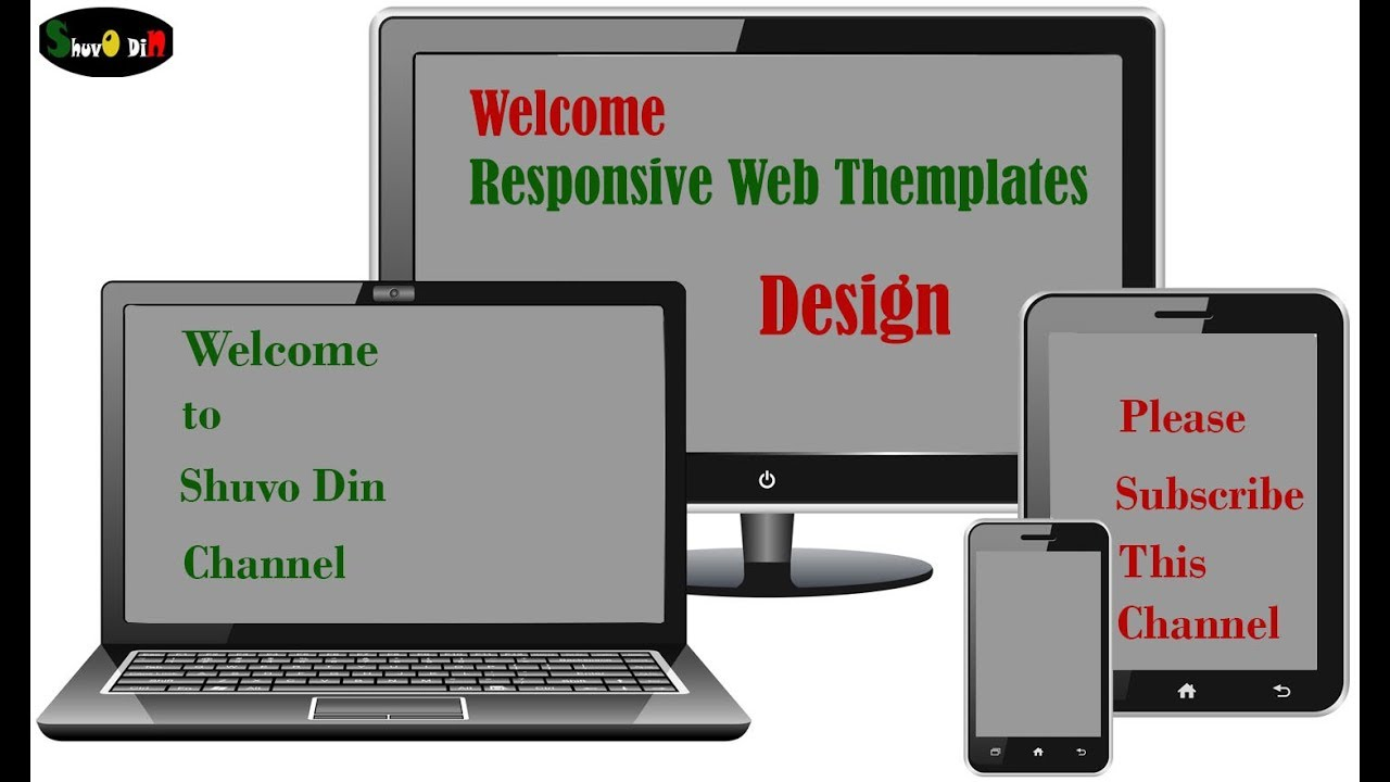Responsive Web Template Design Youtube