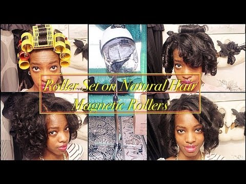 How To Roller Set Natural Hair Start Finish