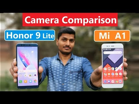 Honor 9 lite vs Mi a1 camera Comparison Review In Hindi ...