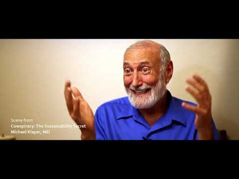 Scene from Cowspiracy: -The Sustainability Secret, Michael Klaper, MD