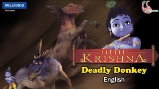 "LITTLE KRISHNA ENGLISH EPISODE 7 ""DEADLY DONKEY"" ANIMATION SERIES"
