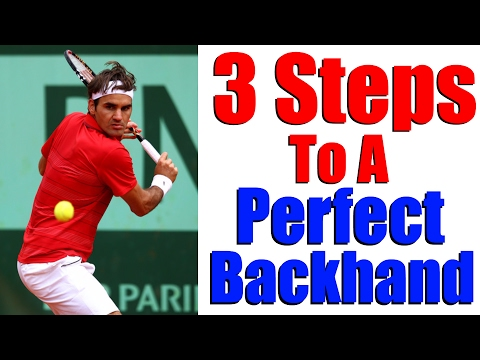 How To Hit A Tennis Backhand   Modern One Handed Backhand In 3 Steps