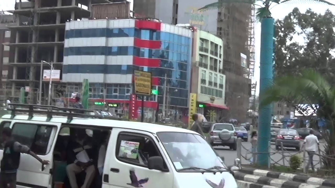 Construction in Addis Ababa Ethiopia  Filmed on Monday February 1, 2016