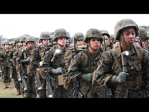 Female Marines Ready For Combat? Recruits Training At MCRD Parris Island