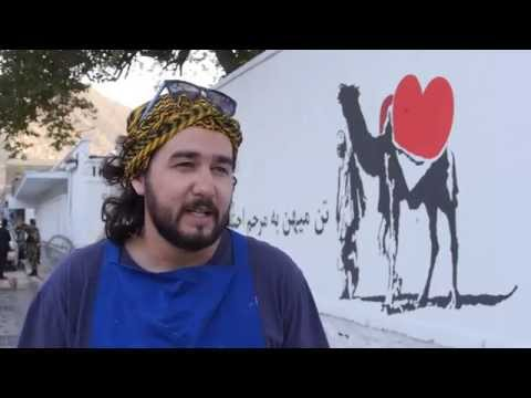 "TOLOnews ""Kabul Street Painting, Promoting Culture of Acceptance and Fight Against Corruption"""