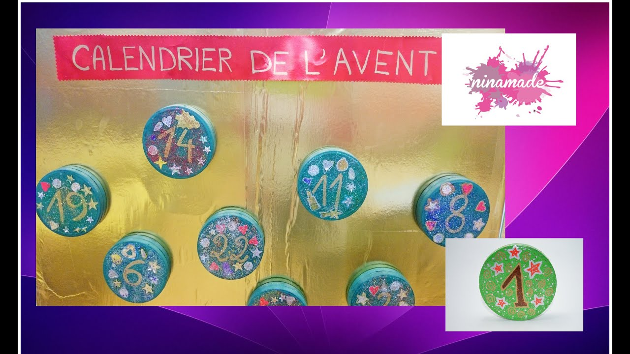 diy calendrier de l 39 avent activit recyclage pour enfants youtube. Black Bedroom Furniture Sets. Home Design Ideas