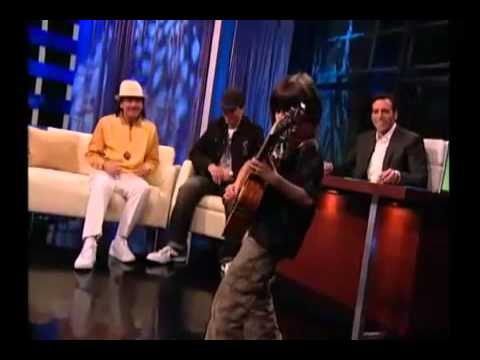 Young Kid  plays SAMBA PATI while Carlos Santana is watching    LUCCIANO PIZZICHINI
