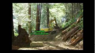 Landslide Excavation and Road Decommissioning in the Headwaters Forest Reserve