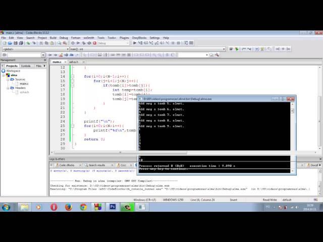 Programozási Tételek - Egyszerű Cserés Rendezés