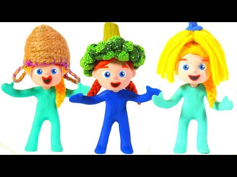 LITTLE PRINCESS GO TO THE SUPERMARKET 鉂� SUPERHERO PLAY DOH CARTOONS FOR KIDS
