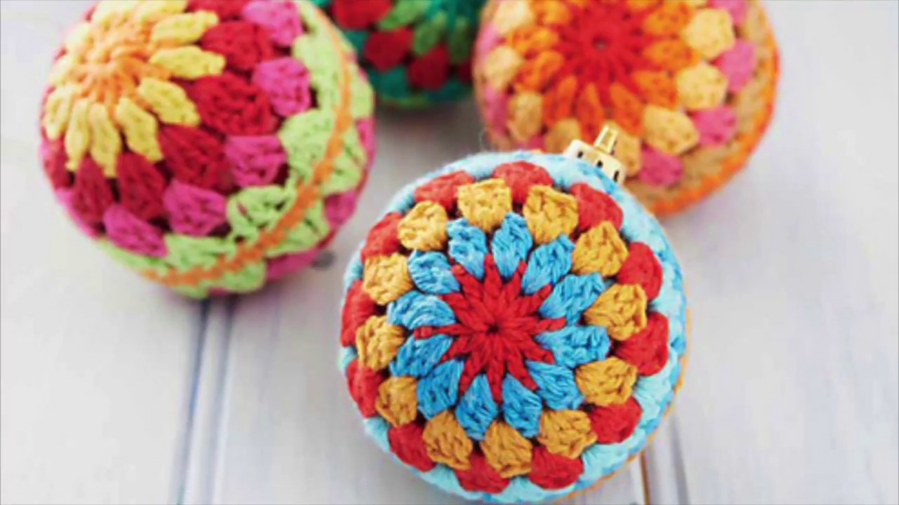 Boules de Noël au crochet   YouTube